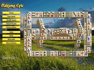 Mahjong Spiel mit ca. 100 verschiedenen Layouts.