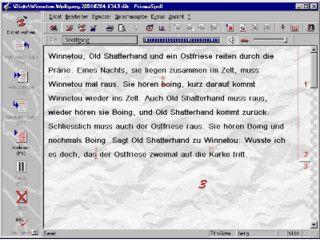PrismaSpell ist ein Diktatprogramm das mit synthetischer Sprachausgabe arbeitet.