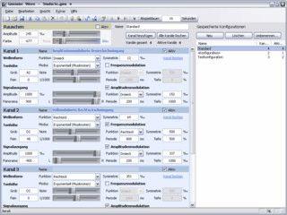 Funktions- und Testton-Generator für verschiedene Einsatzbereiche.