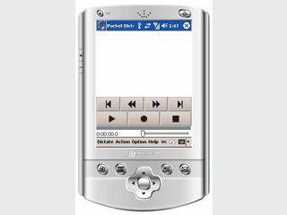 Komfortable Software die aus dem PDA ein Diktiergerät macht.