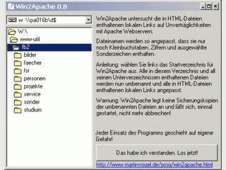 Anpassung von Windows-Dateinamen an die Erfordernisse eines Unix-Webservers.