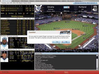 Baseball Simulation für Mac OS X.