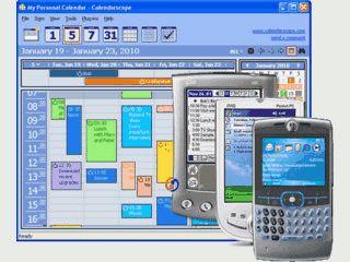 Guter und praktischer Kalender mit verschiedenen Ansichten. Palm Synchronisation