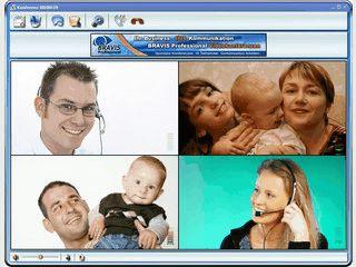Videokonferenzen auf Basis von P2P Technologie.
