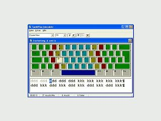 Programm zum Erlernen des Maschinenschreibens im 10-Finger-System