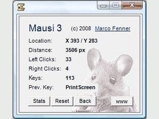 Mausi 3 ermittelt die Anzahl der gedrückten Tasten und Mausclicks.