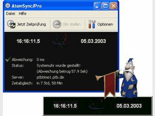 AtomSync - Atomgenaue Uhrzeit fuer den PC