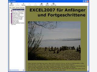 Windows Hilfedatei mit Einsteigerinformationen zu MS Excel.