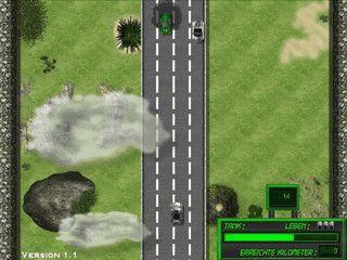 2D Rennspiel in dem Sie als Geisterfahrer unterwegs sind.
