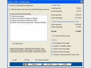 Datenmenge von DFÜ, LAN, DSL Verbindungen aufzeichnen