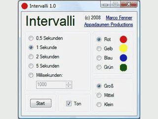Intervalli ist ein PC-Metronom mit verschiedenen Einstellungsmöglichkeiten.