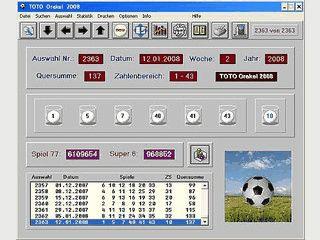 TOTO-Programm mit vielen Statistik- und Listenfunktionen