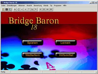 Ausgereifte Software um Bridge online oder offline zu spielen.