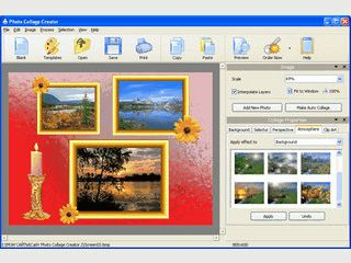 Erstellung von Foto-Collagen mit verschiedenen Vorlagen.