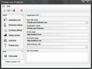 Schutz für EXE Awendungen durch eine 256-bit AES Verschlüsselung