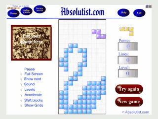 Ein in Flash programmiertet Tetris Clone den Sie mit eigenem Bild kaufen können.