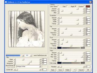 Das Plugin OldMovie läßt Bilder altern.