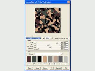 Erzeugt Patterns im Military-Stil.