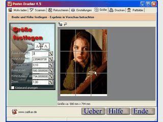 Bilder lassen sich als Poster auf mehrere Blätter verteilt ausdrucken.