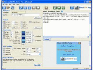 Generiert DHTML-basierte PopUp Fenster.