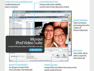 Enthält typische Werkzeuge für die Konvertierung und Bearbeitung von Videos.