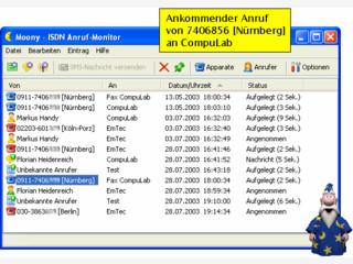 ISDN Anrufmonitor mit Anrufbeantworter und Fax-Empfang bzw. Versand