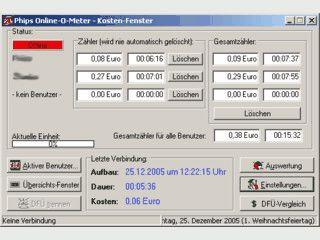 Programm zur Erfassung der Internet-Gebühren mit zusätzlichem Dialer-Schutz