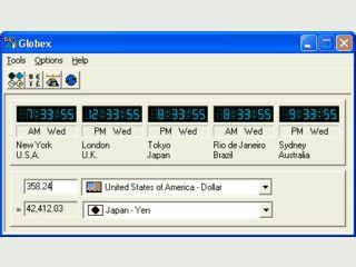 Weltzeituhr und Währungsumrechnung in einem Programm.