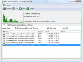 Aufnahme von Audiodaten mit Rauschunterdrückung für Mikrofone.