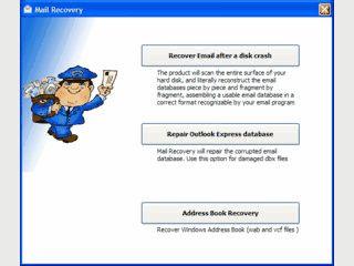 Datenrettung für defekte oder gelöschte Windows Mail und Outlook Express Daten.