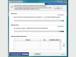 Für Windows Vista und Dual Core Prozessoren optiomierter Virenscanner.