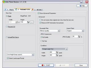 Automatische Stapelverarbeitung für Bilder. Kann auch die EXIF-Daten entfernen.