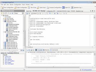 Überwachung und automatische Änderung der Konfiguration von Netzgeräten.