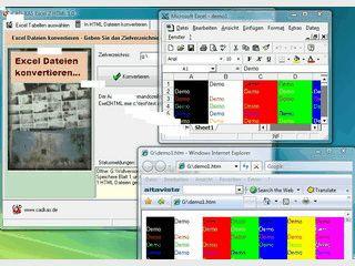 Konvertierung von MS Excel Dateien in HTML Dateien. Auch ohne MS Excel.