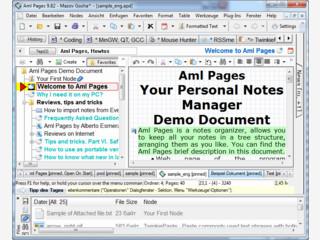 Sehr umfangreiche Software zur Verwaltung beliebiger Texte in Baumstruktur.