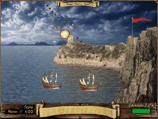 Verteidigen Sie Ihre Festungen gegen die Angriffe der Piraten.