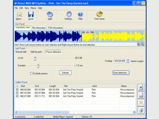 Verbinden, Aufteilen und Editieren von Audiodateien.