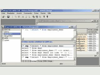 Omega ist ein Tool zur Administration und Entwicklung von Oracle-Datenbanken.