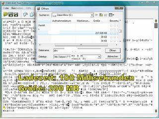Einfacher Editor für Text- und Binärdateien.