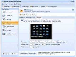 Software zum Erstellen von Slideshow-Bildschirmschonern. Auch als Shareware.