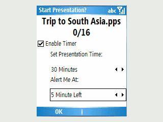 Benutzen Sie einen PDA zur Steuerung von MS Power Point Präsentationen.