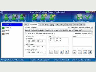 Schneller Wechsel von Netzwerkeinstellungen für Notebooks.