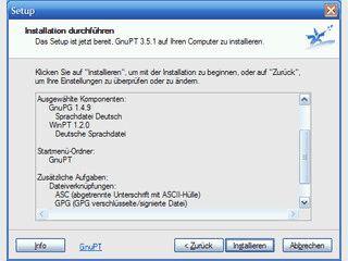 Software zum Verschlüsseln von Daten und Emails mit GnuPG.