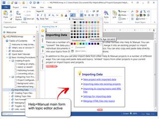 Software zum Erstellen von Hilfedateien der Formate Winhelp und HTML.