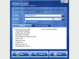 Ermöglicht es persönliche Daten aus MS Office Dateien zu entfernen.