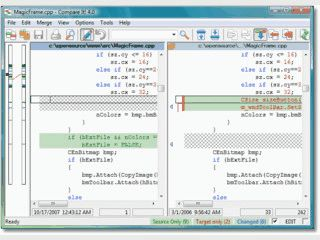 Sehr gutes Tool zum Vergleich zweier Dateien mit Syntax-Highlighting.