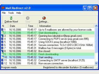 Automatischer Redirect von eingehenden Emails an andere Adressen.