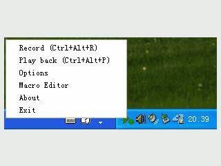 Makro-Recorder der über das SysTray gestartet wird.