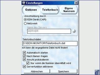 ISDN Monitor ist ein Programm, das Ihnen eingehende Anrufe melden kann.