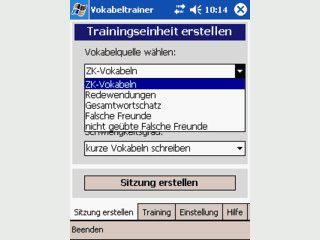 Vokabeltrainer Deutsch-Englisch.